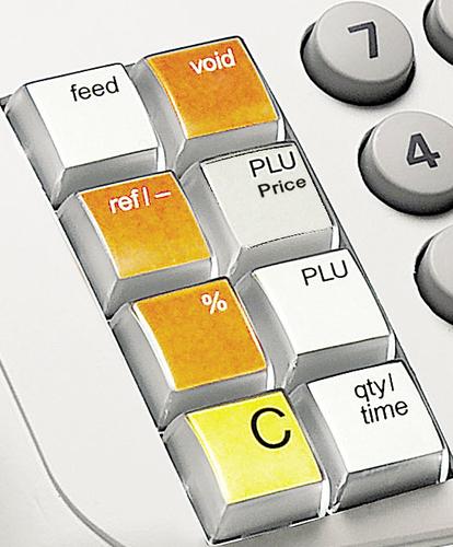 Touche PLU de la caisse enregistreuse Olivetti ECR 7100