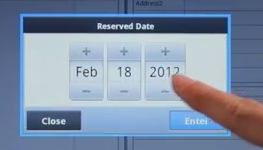 Choix d'une date