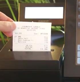 Imprimante-ticket de la caisse enregistreuse Casio VX-100