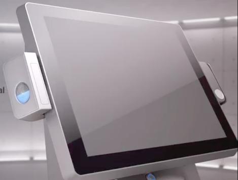 caisse tactile avec lecteur d'empreinte digitale