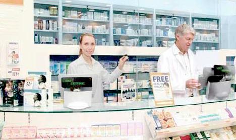 Caisse tactile ToriPos en pharmacie