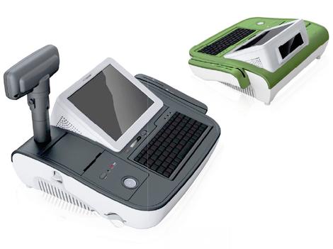 Caisse enregistreuse tactile PosBank miniOII, couleur verte