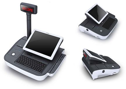Caisse enregistreuse tactile PosBank miniOII, avec et sans afficheur-client