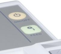Les boutons de l'imprimante-ticket