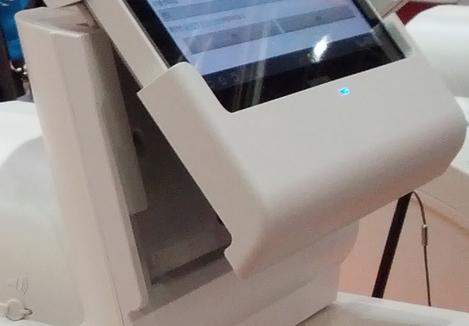 Ecran tactile légèrement orientable