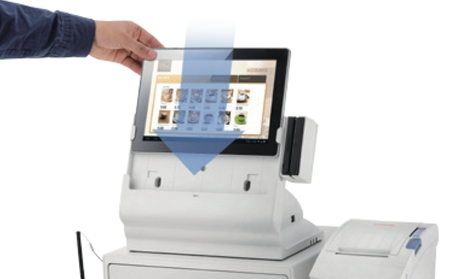 La tablette tactile peut être retirée du BDS-100 très facilement