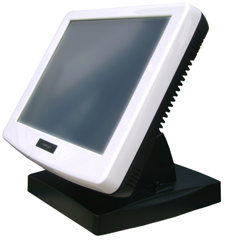 Terminal Posiflex de couleur blanche