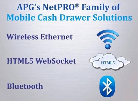 Tiroir-caisse APG NetPRO compatible HTML5 et WebSocket!