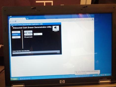 Démonstration de communication entre le NetPRO et HTML5 WebSocket