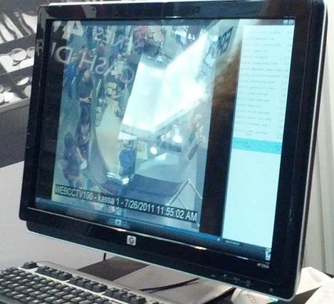 Evénements du tiroir-caisse indiqués sur la vidéo de surveillance