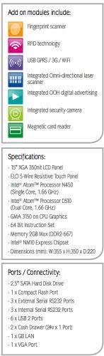 Caractéristiques techniques du Bleep TS-915