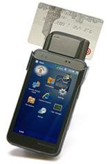 PDA tactile Bleep avec lecteur de carte bancaire à puce
