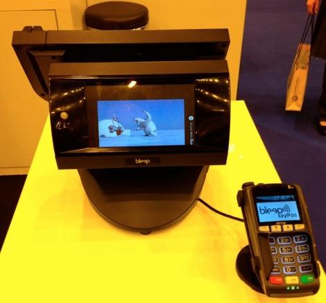 Bel écran client intégré au Bleep TS-910