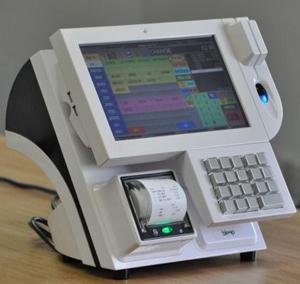 Bleep TS-910, côté vendeur, avec imprimante-ticket et clavier intégrés!