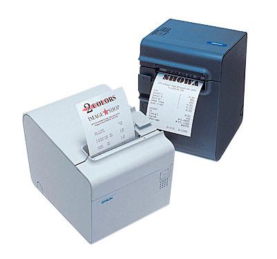 Imprimante-ticket Epson TM-T90 en noir et en blanc