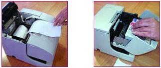Changement du papier et de l'encre avec l'Epson TM-J7100