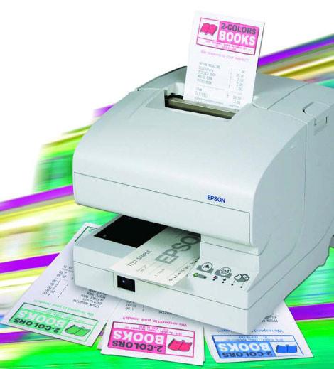 Tickets de caisse en couleur imprimés par l'Epson TM-J7100