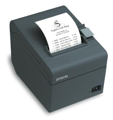 Imprimante-ticket Epson TM-T20 en modèle gris foncé