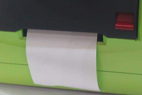 Imprimante-ticket intégrée à la caisse tactile