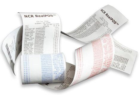 Impression de tickets de caisse recto-verso par NCR