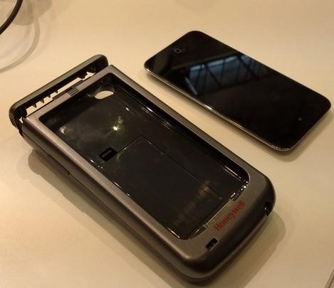 Le Honeywell Captuvo SL22 et l'iPod Touch