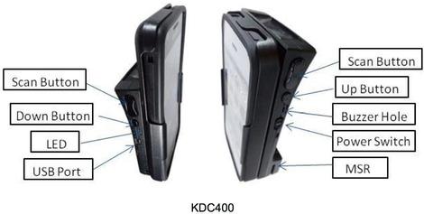 Boutons du Koamtac KDC400