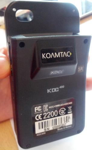 Le Koamtac KDC-400 vu de dos