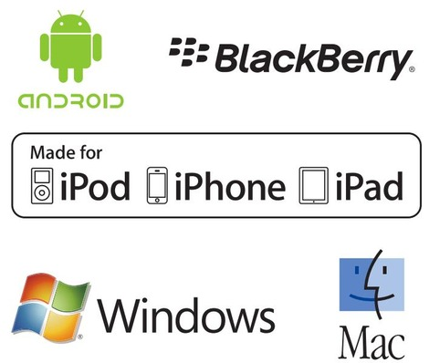compatible Android, Mac, IOS, Windows, Blackberry...
