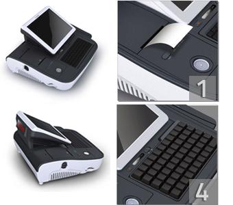 Imprimante-ticket et lecteur de puce dallas intégrés à la caisse enregistreuse