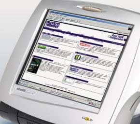 écran tactile du terminal point de vente olivetti explora