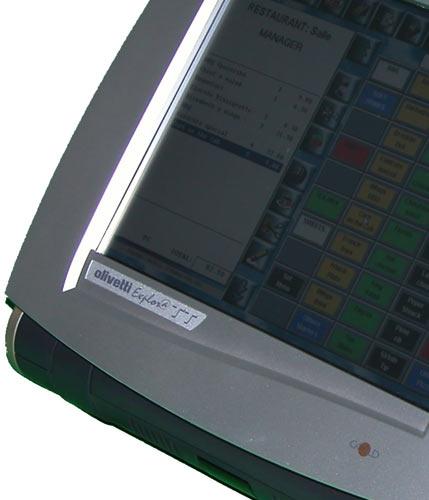 écran tactile de l'olivetti explora