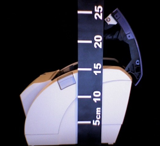 mesure de la hauteur de l'ODP200, couvercle ouvert