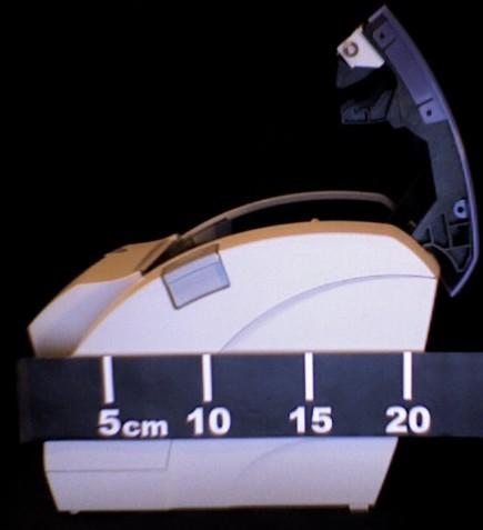 mesure de la profondeur de l'ODP200, couvercle ouvert