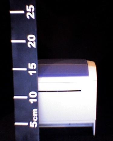 mesure de la hauteur de l'ODP200, couvercle fermé