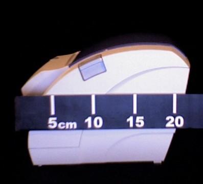 mesure de la largeur de l'ODP200, couvercle fermé