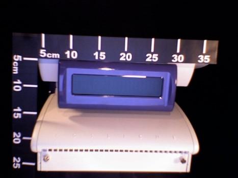 mesure de la hauteur du TPV POSligne Odyssé, écran fermé