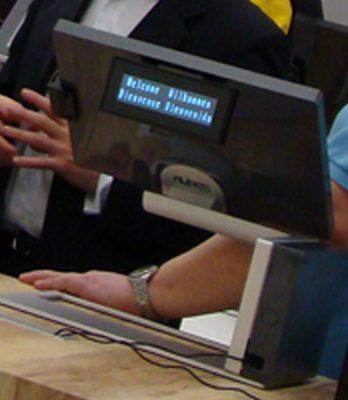 Terminal Point de Vente Sango d'Aures Technologies: noir, avec afficheur-client
