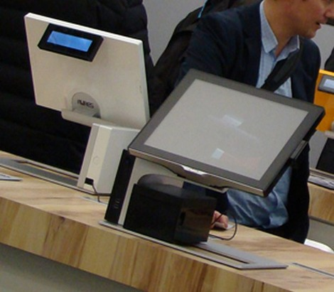 Terminal Point de Vente Sango d'Aures Technologies: blanc et noir