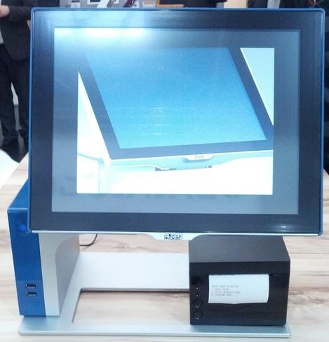 Terminal Point de Vente Sango d'Aures Technologies: bleu, avec imprimante-ticket