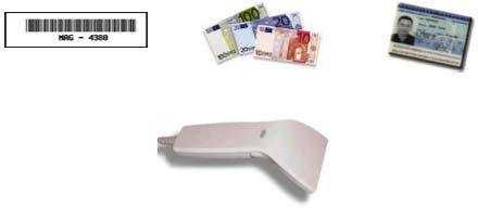 douchette code-barres avec détecteur de faux billets intégré solumag