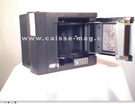 imprimante-ticket thermique Solumag Soluprint 80, couchée, ouverte