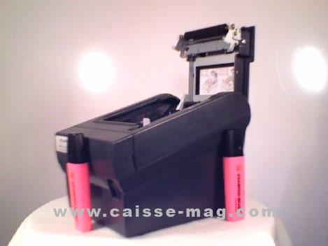 imprimante-ticket thermique Solumag Soluprint 80 avec étalon de mesure