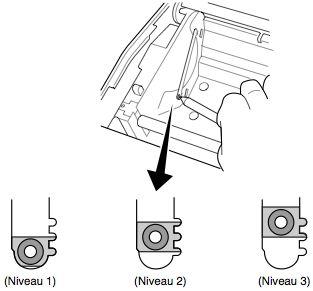 imprimante-ticket star tsp743: réglage du capteur de fin de papier