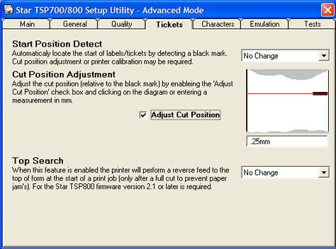réglage du black mark dans une star tsp700 tsp743