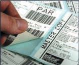 étiquette code-barres avec la TSP743