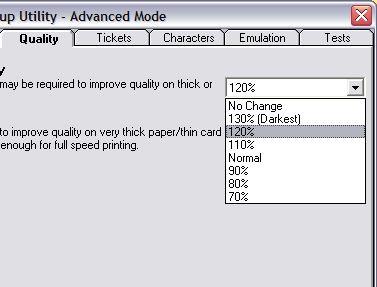 star tsp-743: setup utility